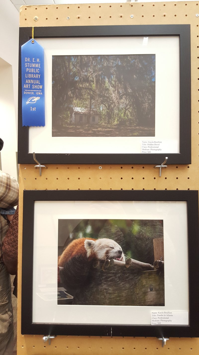 Cedar Falls, IA Photographer Award